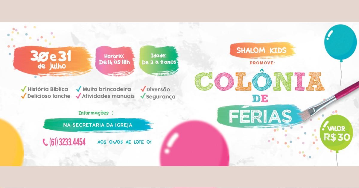 COLONIA DE FÉRIAS
